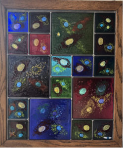 Teddy Devereux glass panel